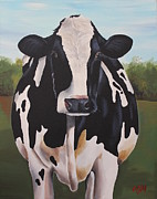 Calf Paintings - Delphinum by Laura Carey