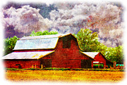 Outbuildings Digital Art Prints - Delta Barns Print by Barry Jones
