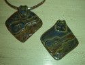 Mississippi Ceramics Originals - Delta Blues Necklace by Sheri Hubbard
