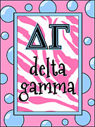 Fraternity Digital Art Prints - Delta Gamma sorority Print by Suzanne Clark