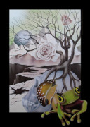 Tree Roots Painting Posters - Delusion Of Time Poster by Lonnie Tapia