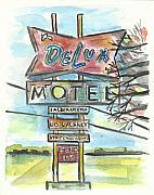 Dakota Painting Metal Prints - DeLux Motel Metal Print by Matt Gaudian