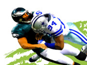 Dallas Painting Metal Prints - DeMarcus Ware - Dallas Cowboys Metal Print by Rodger Underwood