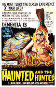 1963 Ford Posters - Dementia 13, Aka The Haunted And The Poster by Everett