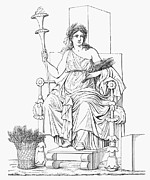 Enthroned Prints - Demeter/ceres Print by Granger