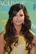 At Arrivals Prints - Demi Lovato At Arrivals For 2011 Teen Print by Everett