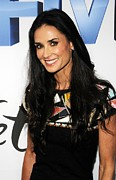 Embellished Framed Prints - Demi Moore Wearing A Chanel Dress Framed Print by Everett