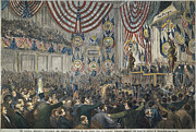 Democratic Party Prints - Democratic Convention, 1868 Print by Granger