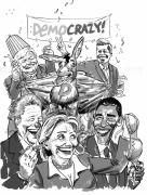 Politicians Prints - DemoCrazy Print by Ken Meyer jr