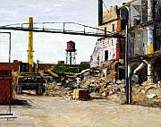 Chicago Art - Demolition 4  by Nancy Albrecht
