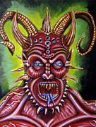 Devil Painting Posters - Demon Poster by Chris Benice