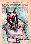 Demon Mixed Media Framed Prints - Demon in a Straightjacket Framed Print by Jera Sky