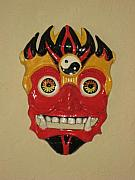 Asian Ceramics - Demon Mask by Deirdre DeLay