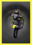 Bike Rider Prints - Demon Rider Print by Karen Lewis