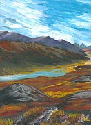 Mckinley Painting Prints - Denali Autumn Print by DC Decker