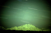 Star Trails Prints - Denali Star Trails and Aurora Print by Dave Hampton Photography