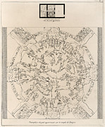 Temple Of Hathor Metal Prints - Dendera Zodiac From The Temple Of Hathor Metal Print by Humanities And Social Sciences Libraryasian And Middle Eastern Division