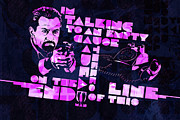 Cop Digital Art - Deniro Heat Quote by Jeff Steed