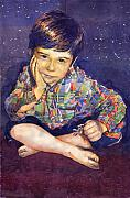 Watercolour Prints - Denis 01 Print by Yuriy  Shevchuk