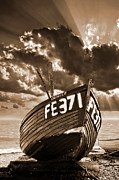 Wooden Boat Prints - Denise Print by Meirion Matthias