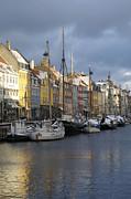 Denmark, Copenhagen, Nyhavn, Boats Print by Keenpress