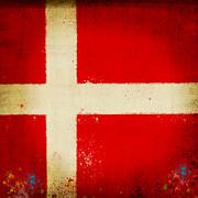 Denmark Flag Print by Setsiri Silapasuwanchai