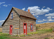 Rustic Cabin Prints - Denmark Jensen Cabin - Chesterfield Ghost Town - Idaho  Print by Gary Whitton