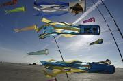 Romo Photos - Denmark, Romo, Kites Flying At Beach by Keenpress