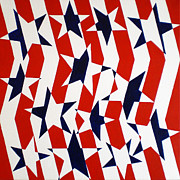 Flag Of Usa Painting Prints - Dennis Conner II Print by Oliver Johnston