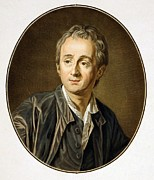Rationalism Framed Prints - Dennis Diderot 1713-1784, French Framed Print by Everett