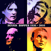 Black Velvet Framed Prints - Dennis Hopper Framed Print by Stefan Kuhn