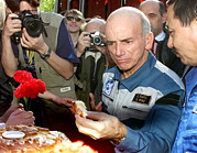Dennis Prints - Dennis Tito, First Space Tourist Print by Ria Novosti