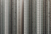 Apartment Framed Prints - Dense Windows Of High Rise Constructed Building Framed Print by Yiu Yu Hoi