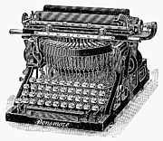 Typewriter Photos - Densmore Typewriter by Granger