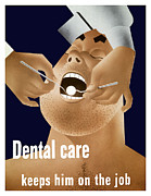Featured Art - Dental Care Keeps Him On The Job by War Is Hell Store
