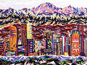Denver Pastels Prints - Denver 2002 - Detail A Print by Robert  SORENSEN