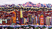 Denver Pastels Prints - Denver 2002 - Detail C Print by Robert  SORENSEN