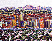 Denver Pastels Prints - Denver 2002 Print by Robert  SORENSEN