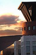 City Scape Metal Prints - Denver Art Museum and Library Metal Print by Jeff Ball