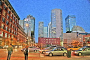 Fine Art Greeting Cards Art - Denver at Night by James Steele