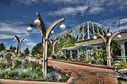 Colorado Greeting Cards Posters - Denver Botanic Garden Entrance Poster by Jon Burch Photography