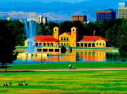 Park Scene Digital Art - Denver City Park by Christine S Zipps