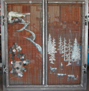 Fireplace Sculptures - Denver Fireplace Door by Kirk Sullens