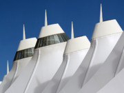 Interesting Building Posters - Denver International Airport DIA Colorado Poster by Brendan Reals