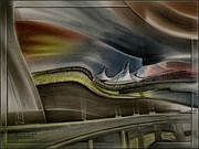Denver Pastels Prints - Denver Intl Airport 2010 Print by Glenn Bautista