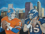 Denver Pastels Prints - Denver Rookies Print by Demitrius Roberts