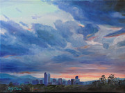 Emily Olson - Denver Skyline at Sunset