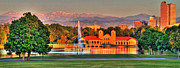 Denver Skyline Print by Scott Mahon
