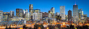 Panoramic Metal Prints - Denver Twilight Metal Print by Kevin Munro