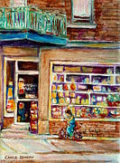 Kik Cola Paintings - Depanneur St.viateur by Carole Spandau